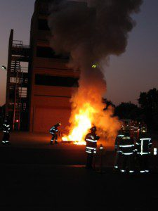Fire at the Contra Costa Training Tower