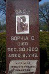 Gravestone of a victim